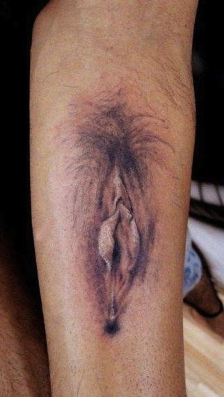 vagina forearm tattoo