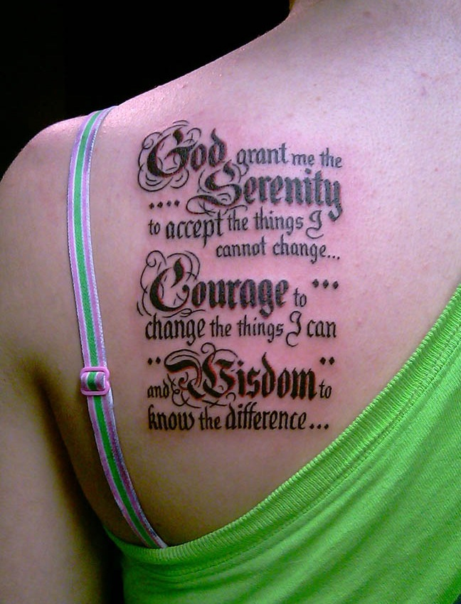 let s talk about tattooing the serenity prayer on yourself stamp tramps. Black Bedroom Furniture Sets. Home Design Ideas