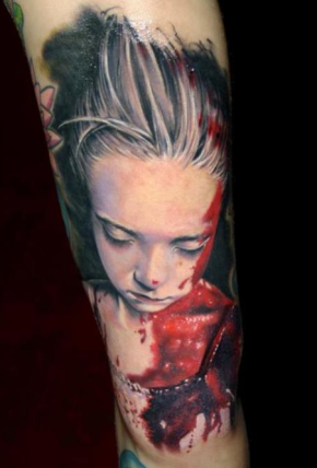 bloody child tattoo