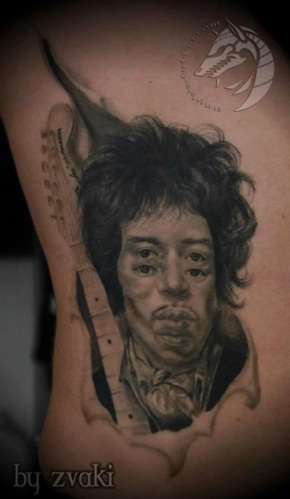 Jimi Hendrix tattoo by Zvaki